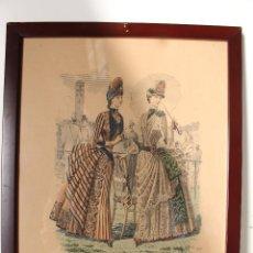 Arte: EL SALON DE LA MODA , MONTANER Y SIMON - BARCELONA - GRABADO MODA -PRIMEROS AÑOS 1900. Lote 276774453
