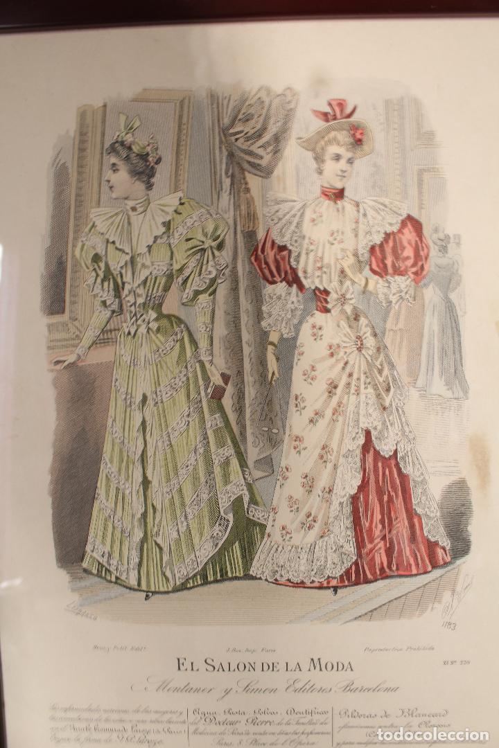 Arte: EL SALON DE LA MODA , montaner y simon - barcelona - grabado moda -primeros años 1900 - Foto 3 - 276774518