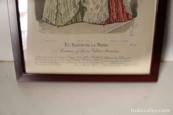 Arte: EL SALON DE LA MODA , montaner y simon - barcelona - grabado moda -primeros años 1900 - Foto 4 - 276774518