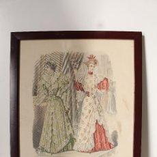 Arte: EL SALON DE LA MODA , MONTANER Y SIMON - BARCELONA - GRABADO MODA -PRIMEROS AÑOS 1900. Lote 276774518