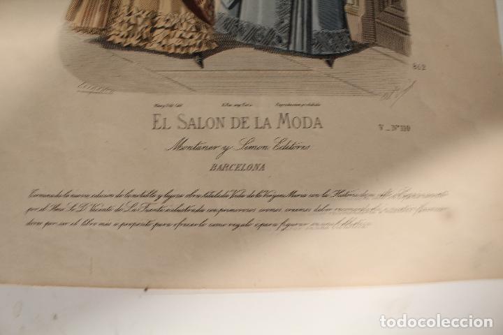 Arte: EL SALON DE LA MODA , montaner y simon - barcelona - grabado moda -primeros años 1900 - Foto 2 - 276774663