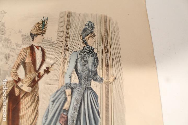 Arte: EL SALON DE LA MODA , montaner y simon - barcelona - grabado moda -primeros años 1900 - Foto 3 - 276774663