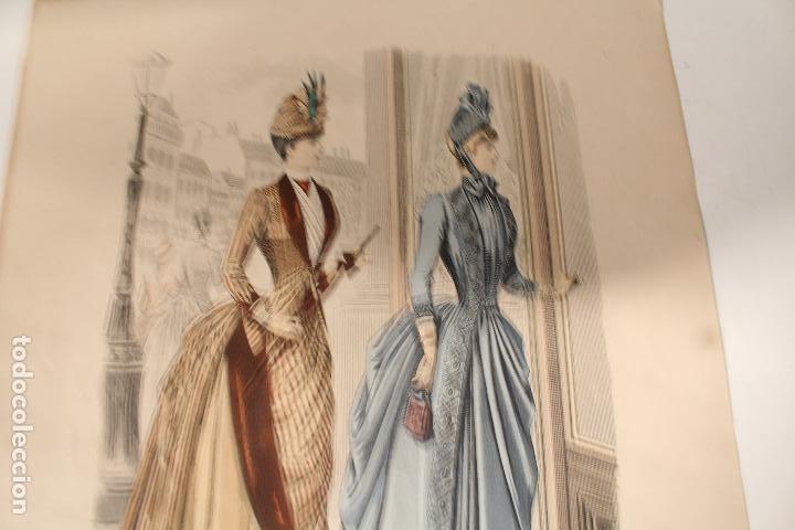 Arte: EL SALON DE LA MODA , montaner y simon - barcelona - grabado moda -primeros años 1900 - Foto 5 - 276774663