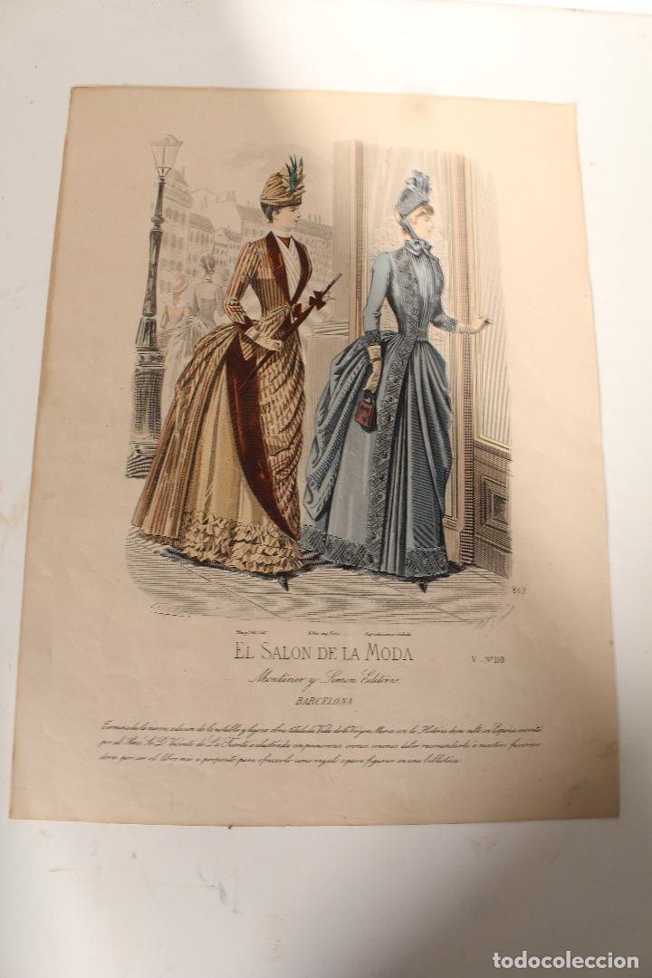 Arte: EL SALON DE LA MODA , montaner y simon - barcelona - grabado moda -primeros años 1900 - Foto 6 - 276774663