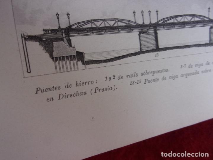 Arte: grabado Gras y compañia,puentes de hierro,del XIX - Foto 2 - 276801078