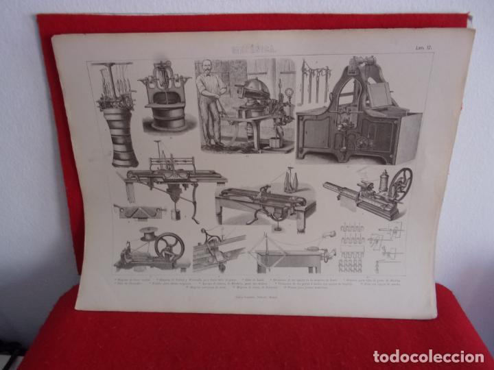 GRABADO,GRAS Y COMPAÑIA,MAQUINAS HACER MEDIAS (Arte - Grabados - Modernos siglo XIX)