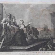 Arte: LE DERNIER SUPPLICE DE MME A. ELISABETH SOEUR DU ROY LOUIS XVI. GRABADO POR C. SILANIO. IMPRESO POR. Lote 276958008