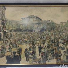 "Arte: ""LE CARREU DES HALLES"" DE CHARLES GILLOT (1853-1903) E ILUSTRADO POR MYRBACH, DE 1885. ESTAMPADO.. Lote 277045988"