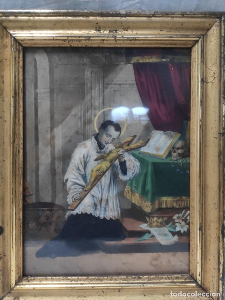 """""""ECLESIÁSTICO"""", GRABADO PINTANDO, DEL FINALES DEL SIGLO XIX. (Arte - Grabados - Modernos siglo XIX)"""