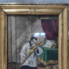 """Arte: """"ECLESIÁSTICO"""", GRABADO PINTANDO, DEL FINALES DEL SIGLO XIX.. Lote 277048488"""