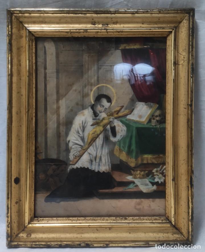 """Arte: """"Eclesiástico"""", grabado pintando, del finales del siglo XIX. - Foto 5 - 277048488"""