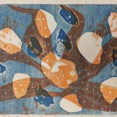 Arte: GRABADO EL PULPO POR LUIS SEOANE, PRUEBA DE AUTOR FIRMADA Y FECHADA 1971. Lote 277076793