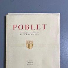 Arte: POBLET AGUAFUERTES DE LÓPEZ RAMÓN - TEXTO MANUEL MONTOLIU - ED DOMUS - Nº EJEMPLAR 104. Lote 277143223