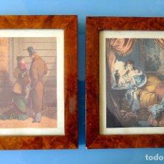Arte: REPRODUCCIÓN DE GRABADO DE 1878 A COLOR ENMARCADO. MEDIDAS DEL MARCO: 23X 28,5 CM.. Lote 277198188
