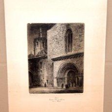 Arte: ERNESTO FURIO NAVARRO (VALENCIA, 1902 - 1995) VALENCIA, CATEDRAL. PORTA DE L'ALMOINA AMB EL MIQUELET. Lote 277461403