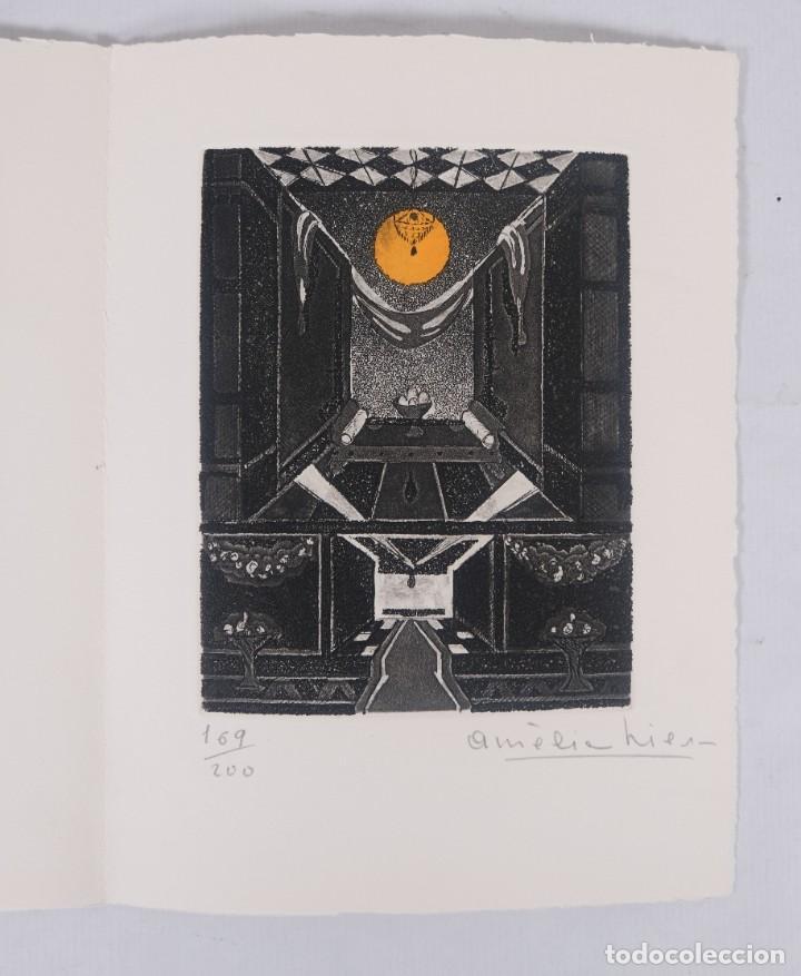 Arte: Grabado 169/200 Interior estancia firmado a lápiz Amèlia Hiena - Foto 2 - 277517878