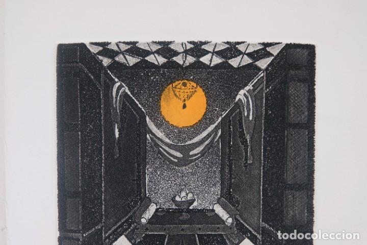 Arte: Grabado 169/200 Interior estancia firmado a lápiz Amèlia Hiena - Foto 3 - 277517878