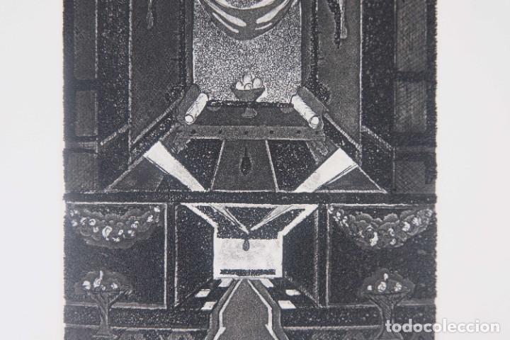 Arte: Grabado 169/200 Interior estancia firmado a lápiz Amèlia Hiena - Foto 4 - 277517878