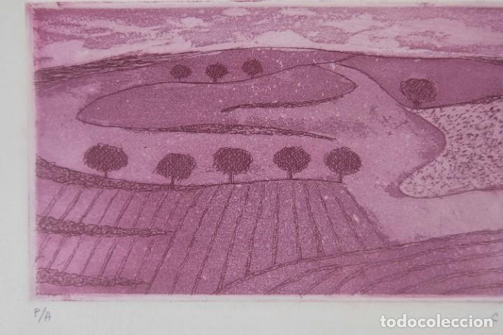 Arte: Concha Ibañez grabado P/A Paisaje firmado a lápiz y fechado 1991 - Foto 4 - 277518118