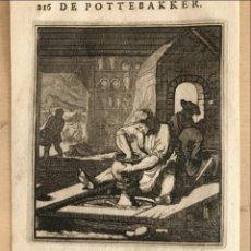Arte: ALFARERO, 1736. LUYKEN/WEIGEL. Lote 277589478