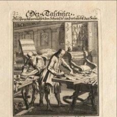 Arte: TRABAJANDO EL CUERO, 1698. LUYKEN/WEIGEL. Lote 277591563