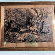 Arte: GRABADO SOBRE COBRE, THE CHALLENGE. S.XX.. Lote 277606738