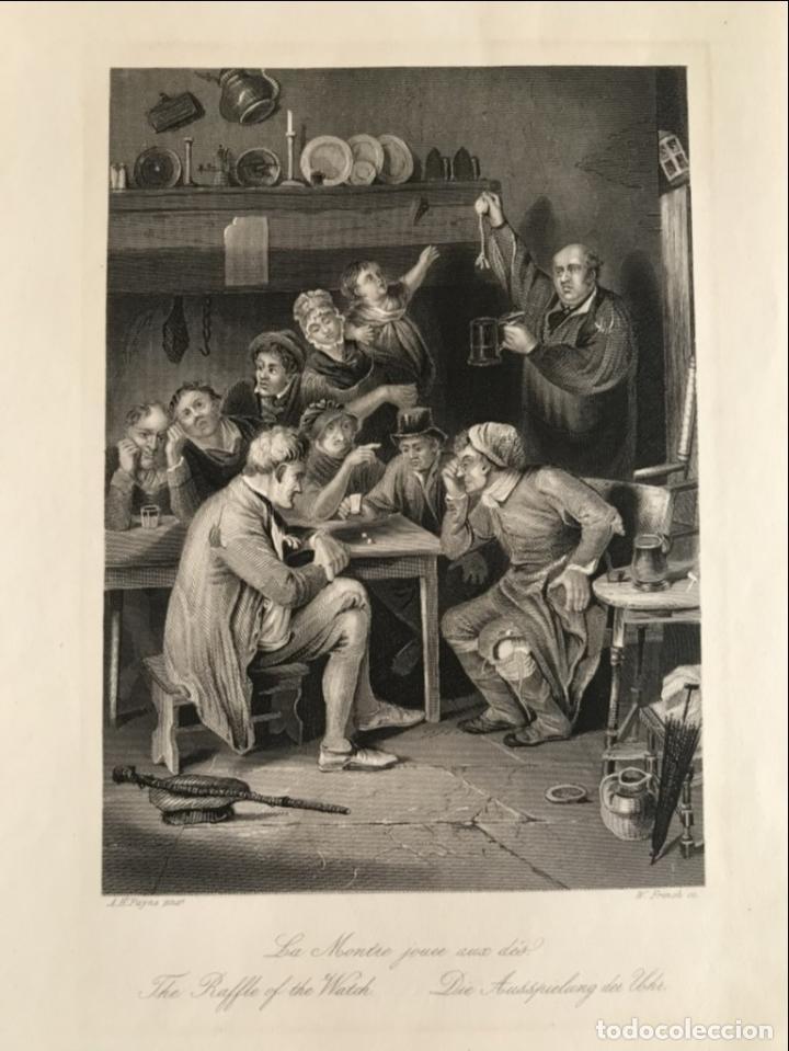 JUEGOS DE AZAR (Y III), 1850. PAYNE/FRENCH (Arte - Grabados - Modernos siglo XIX)