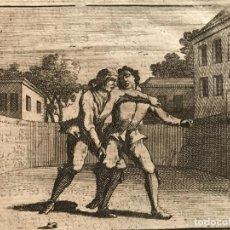 Arte: EL JUEGO DE LA LUCHA CUERPO A CUERPO, 1750. ÁNONIMO. Lote 277650753