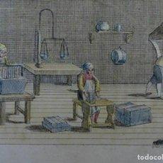 Arte: INTERIOR DE UN TALLER DE FABRICACIÓN DE JABÓN, 1825. LANOGUEIL. Lote 277702678