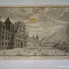 Arte: (ALB2) MAPA DE MADRID S.XVIII - ENTRADA DEL ESCORIAL , HARED WOLFFY AV , 30 X 19'5 CM. Lote 277710468
