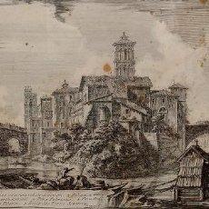 Arte: SCENOGRAPHIA INSULAE TIBERINAE. MARCAS PIRANESI F. GRABADO SOBRE PAPEL. ITALIA. SIGLO XVIII. Lote 278179693