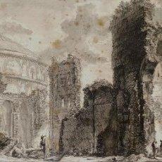 Arte: POSTICUM PANTHEI. CON MARCAS PIRANESI F. GRABADO SOBRE PAPEL. ITALIA. SIGLO XVIII. Lote 278185098