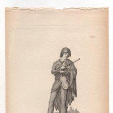 Art: GRABADO CALCOGRAFICO ESTUDIANTE DE UNIVERSIDAD. Nº 44. AÑO 1825. JOSE RIBELLES Y HELIP. Lote 278209283