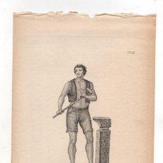 Arte: GRABADO CALCOGRAFICO CHISPERO DE MADRID. Nº 46. JOSE RIBELLES Y HELIP. C. 1830. Lote 278209478