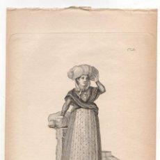 Arte: GRABADO CALCOGRAFICO LABANDERA DE MADRID. Nº 38. JOSE RIBELLES Y HELIP. C. 1830. Lote 278209718