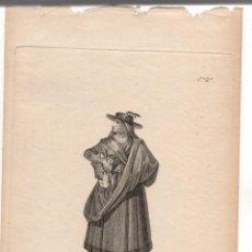 Arte: GRABADO CALCOGRAFICO LABRADORA DEL VALLE AMBLES. AVILA. Nº 6. JOSE RIBELLES Y HELIP. C. 1830. Lote 278209838