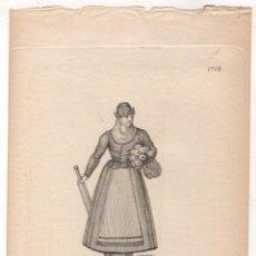 Arte: GRABADOS CALCOGRAFICOS SERRANO Y SERRANA DE CASTILLA LA VIEJA. Nº 49. JOSE RIBELLES Y HELIP. C. 1830. Lote 278210073