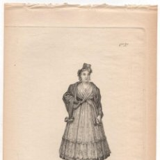 Arte: GRABADO CALCOGRAFICO MAJA. Nº 26. JOSE RIBELLES Y HELIP. C. 1830. Lote 278210323