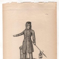 Arte: GRABADO CALCOGRAFICO SERENO DE MADRID DE 1836. Nº 56. JOSE RIBELLES Y HELIP. C. 1830. Lote 278210393