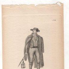 Arte: GRABADO CALCOGRAFICO SERENO DE MADRID DE 1832. Nº 48. JOSE RIBELLES Y HELIP. C. 1830. Lote 278210433