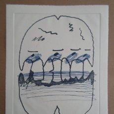 Arte: LUÍS GORDILLO (SEVILLA, 1934) GRABADO 2000 DE 30X24 EN PAPEL 38X28CM FIRMADO LÁPIZ Y 9/75. PERFECTO. Lote 278223338