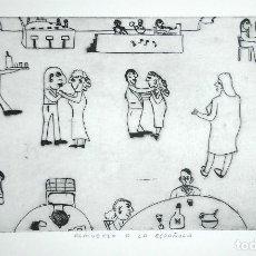 Arte: THEODOR HERBERT VAN PUTTEN (1929-1980). ALMUERZO A LA ESPAÑOLA, 1965. FIRMADO 3/30. Lote 278288913
