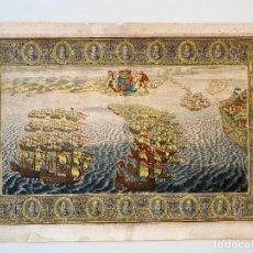Arte: JOHN PINE 1739 , SPANISH ARMADA , ETCHING ORIGINAL , GRABADO NAVAL ARMADA ESPAÑOLA. Lote 278353908