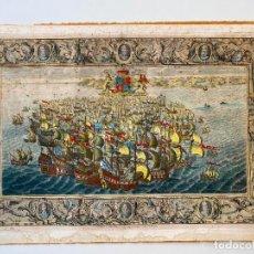 Arte: JOHN PINE 1739 , SPANISH ARMADA , ETCHING ORIGINAL , GRABADO NAVAL ARMADA ESPAÑOLA. Lote 278354168