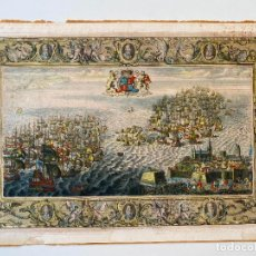 Arte: JOHN PINE 1739 , SPANISH ARMADA , ETCHING ORIGINAL , GRABADO NAVAL ARMADA ESPAÑOLA. Lote 278354318