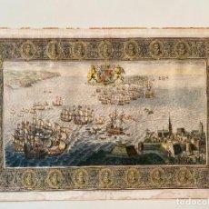 Arte: JOHN PINE 1739 , SPANISH ARMADA , ETCHING ORIGINAL , GRABADO NAVAL ARMADA ESPAÑOLA. Lote 278354693