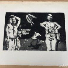 Arte: AGUAFUERTE TIRADA LIMITADA. FIRMADA A LAPICERO POR ARTISTA- AÑOS 70. Lote 278357188