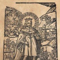 Arte: GRABADO RELIGIOSO S. SAGIMON. F. PERA ABADAL. REPRODUCCION HECHA EN EL SIGLO XIX.. Lote 278358293