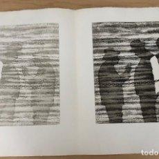 Arte: GRABADO AGUAFUERTE EL MITO DE LA CAVERNA. JOSE LUIS VERDES. AÑO 1977. Lote 278359573
