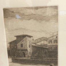 Arte: AGUAFUERTE DEL ARTISTA V. BLANCO. ALREDEDORES DE PAMPLONA? C. 1985. FIRMADO A LAPICERO POR ARTISTA. Lote 278363753